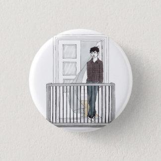 boy in the balcony 3 cm round badge