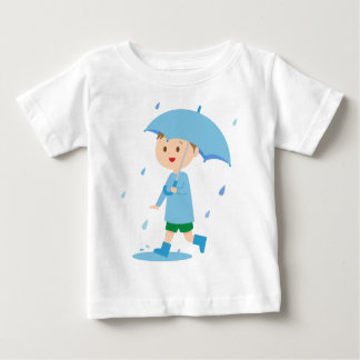 Boy in the Rain Baby T-Shirt