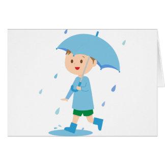 Boy in the Rain Card