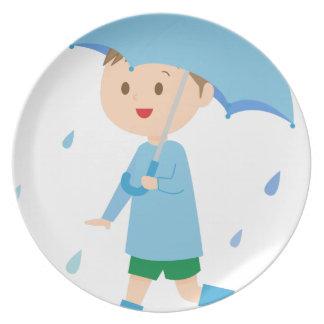 Boy in the Rain Plate