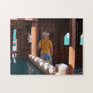 Boy in Wooden Fort Puzzle