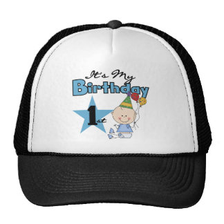 Boy It's My Birthday Tshirts and Gifts Mesh Hats