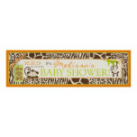 Boy Jungle Monkey Safari Baby Shower Banner Print