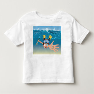 Boy metal detecting in water toddler T-Shirt