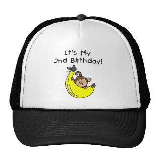 Boy Monkey on Banana 2nd Birthday Cap