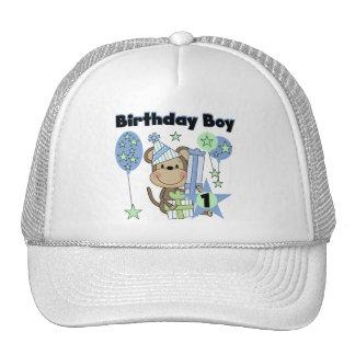 Boy Monkey With Gifts 1st Birthday Trucker Hat