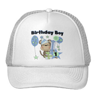 Boy Monkey With Gifts 1st Birthday Hats