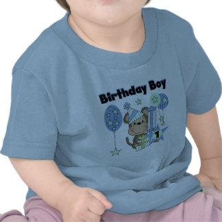 Boy Monkey With Gifts 1st Birthday T-shirt