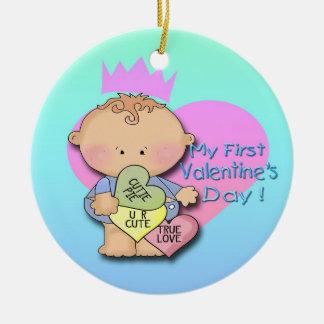 Boy My 1st Valentine's Day  Round Ornament