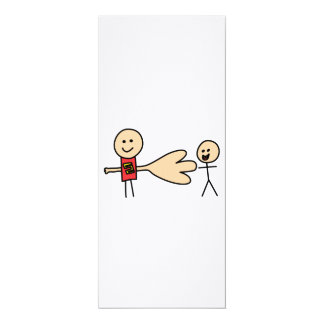 Boy Offering Shake Hand Peace Friend Friendship 10 Cm X 24 Cm Invitation Card