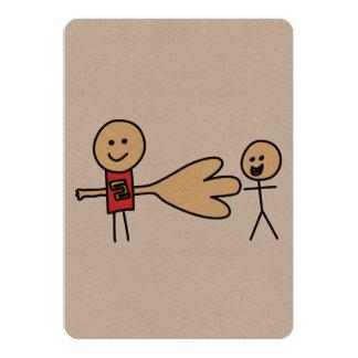 Boy Offering Shake Hand Peace Friend Friendship 13 Cm X 18 Cm Invitation Card