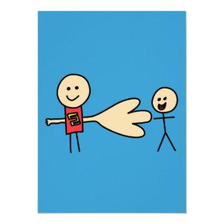Boy Offering Shake Hand Peace Friend Friendship 14 Cm X 19 Cm Invitation Card