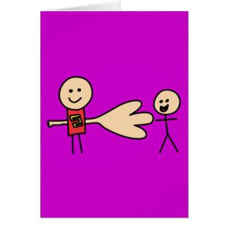 Boy Offering Shake Hand Peace Friend Friendship Greeting Card