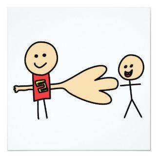Boy Offering Shake Hand Peace Friend Friendship 13 Cm X 13 Cm Square Invitation Card