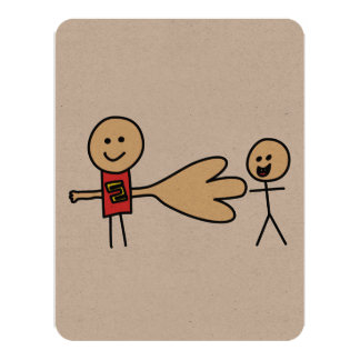 Boy Offering Shake Hand Peace Friend Friendship 11 Cm X 14 Cm Invitation Card