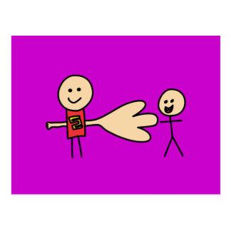 Boy Offering Shake Hand Peace Friend Friendship Postcard
