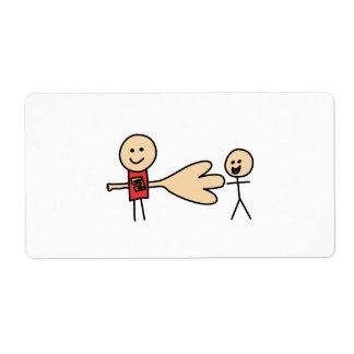 Boy Offering Shake Hand Peace Friend Friendship Shipping Label