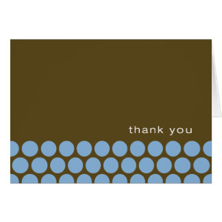 Boy Oh Boy - blue/brown thank you notes Note Card
