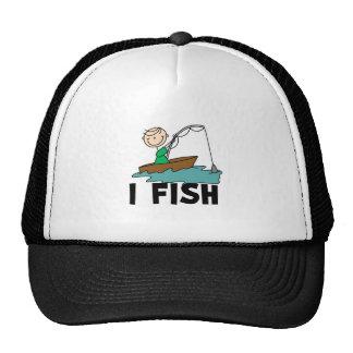 Boy on Boat I Fish Cap