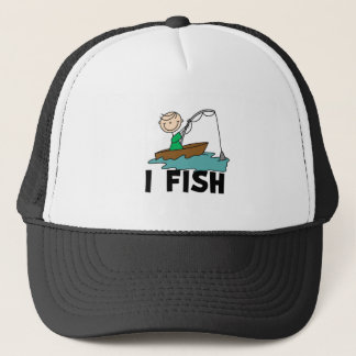 Boy on Boat I Fish Trucker Hat