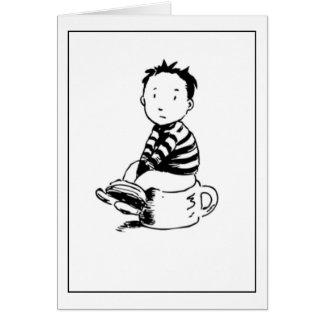 Boy On Pot Greeting Cards