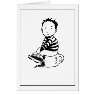 Boy On Pot Greeting Card