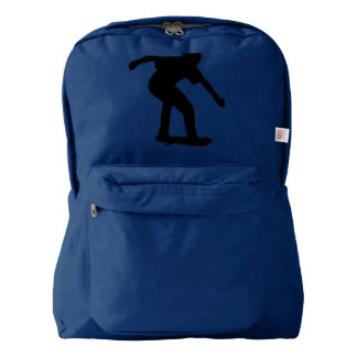 Boy On Skateboard Silhouette derived from an image Backpack