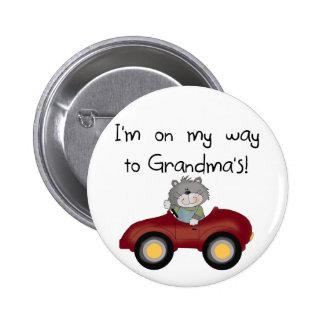 Boy On Way to Grandmas Tshirts and Gifts Pinback Button