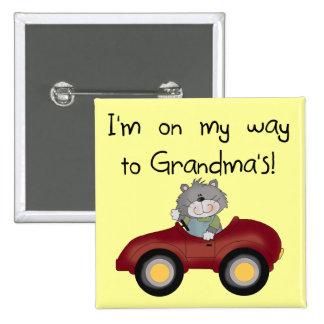 Boy On Way to Grandmas Tshirts and Gifts Pin