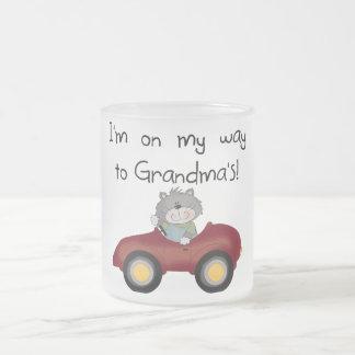 Boy On Way to Grandmas Tshirts and Gifts Mug