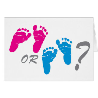 boy or girl? gender reveal party card