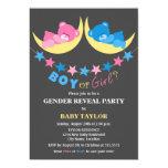 Boy Or Girl Teddy Bears Gender Reveal Party 13 Cm X 18 Cm Invitation Card
