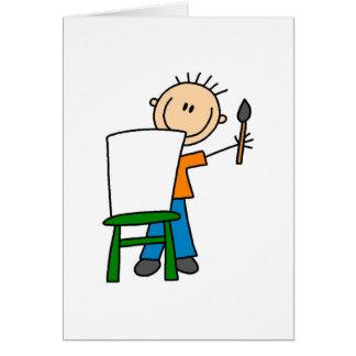 Boy Painting Card
