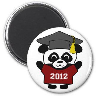 Boy Panda Maroon White 2012 Grad Fridge Magnets