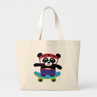 Boy Panda on Skateboard Bag