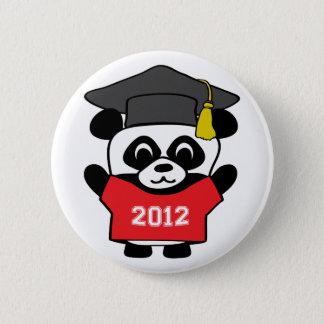 Boy Panda Red & White 2012 Grad 6 Cm Round Badge
