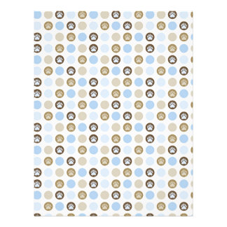 Boy Paw Print Polka Dots Two-sided Scrapbook Paper 21.5 Cm X 28 Cm Flyer
