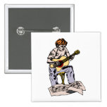 Boy playing acoustic guitar with sheet music pinback buttons