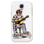 Boy playing acoustic guitar with sheet music galaxy s4 case