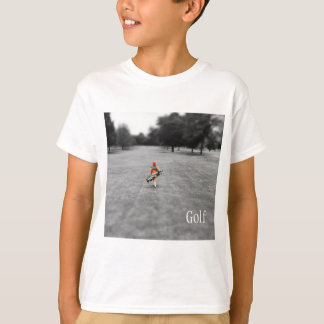 Boy Playing Golf Tee
