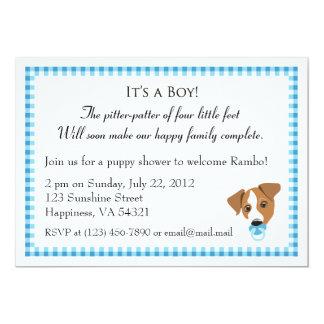 Boy Puppy Shower Invitations