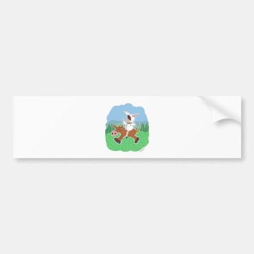 Boy riding a horse bumper stickers