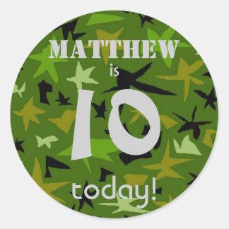 Boy s Birthday Personalized Stickers Round Stickers
