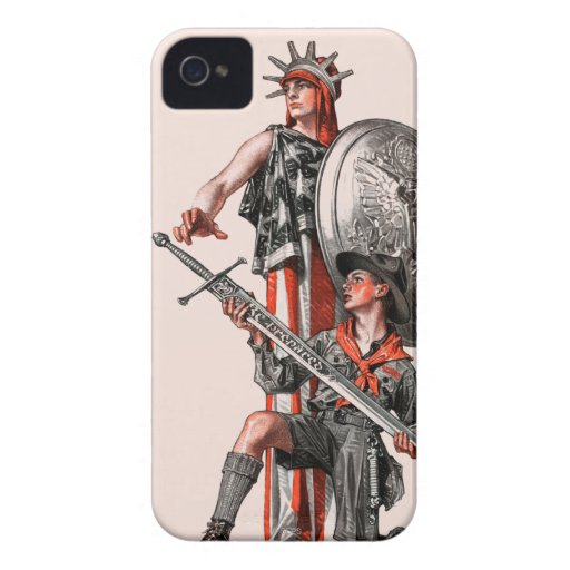 Boy Scout and Liberty iPhone 4 Case-Mate Case