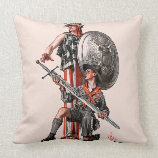 Boy Scout and Liberty Pillow