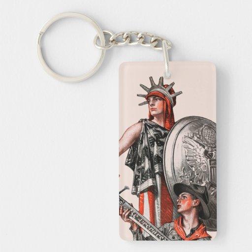 Boy Scout and Liberty Key Chain