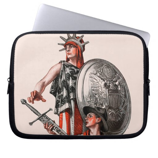 Boy Scout and Liberty Laptop Computer Sleeve