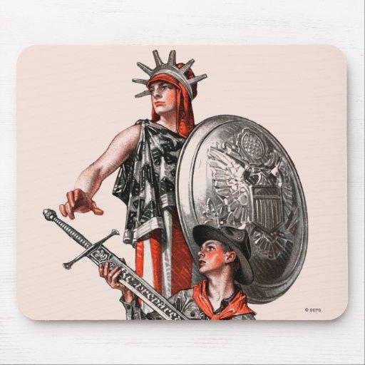 Boy Scout and Liberty Mousepad
