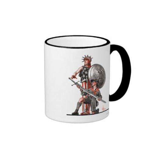 Boy Scout and Liberty Coffee Mugs