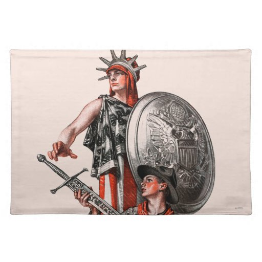 Boy Scout and Liberty Place Mat